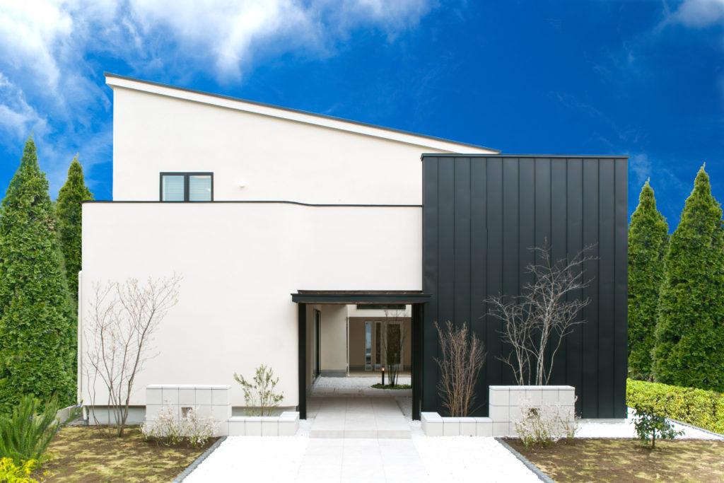 シンプルな住宅外観