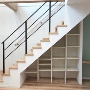 階段下デッドスペースの収納