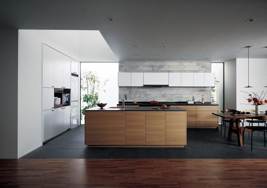 色の使い方がカッコいいキッチン