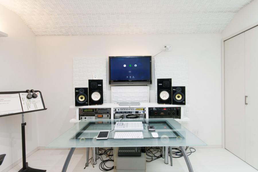 防音設備の整ったワークスペース兼用趣味の部屋